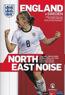 * 2014 - ENGLAND v SWEDEN (WOMENS INTERNATIONAL - 3rd August 2014) *