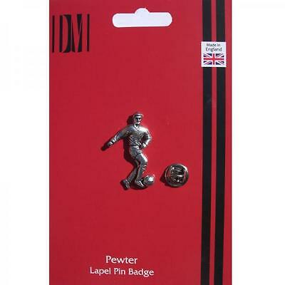 Footballer Lapel Pin Badge Football PLAYER FAN ENTHUSIAST BIRTHDAY PRESENT