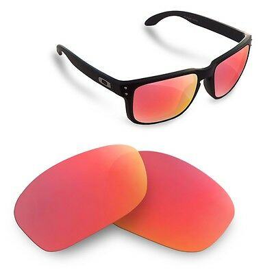 Polarized  Replacement Lenses for Oakley holbrook ruby red color