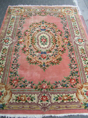 Beautiful hand-woven art deco Chinese Antiques Carpet rug 275x185-cm/108.2x72.8-