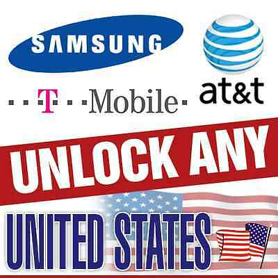 SAMSUNG UNLOCK CODE GALAXY S1 S2 S3 S4 S5 NOTE 1 2 3 AT&T or T-Mobilie USA FAST