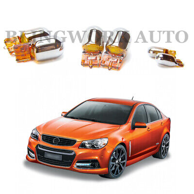 Holden Commodore VF T20 7440 T10 CHROME SIGNAL AMBER ORANGE INDICATOR PACKAGE