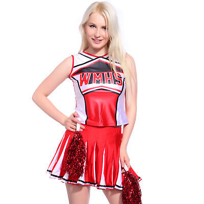 High School Musical Costumes Girls Glee Cheerleader Costume Outfit Size XS 6-24