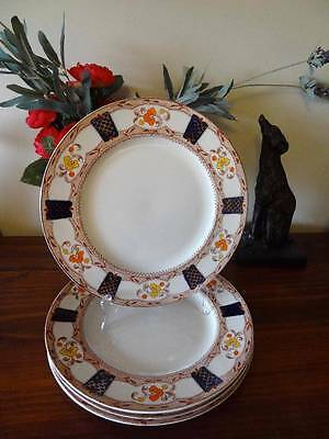 c1937 ALFRED MEAKIN STANLEY H/P LOT 4 DINNER PLATES