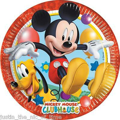 Disney MICKEY MOUSE CLUBHOUSE  23cm Paper PLATES Boys Party Supplies Job Lot