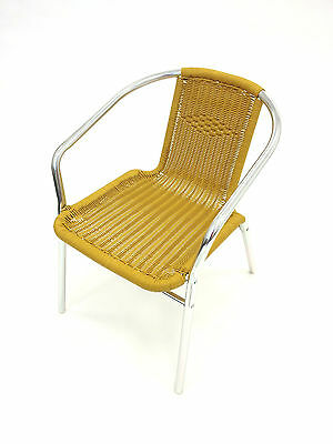 YE-34 Yellow Rattan Chairs - Rattan Garden Chairs - Yellow Rattan Patio Chairs
