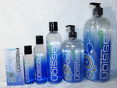 Passion Water Based Lube Non Flavored Lubricant 2oz 4oz 8oz 16oz 34oz Bottle