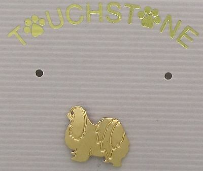 Japanese Chin Jewelry Small Gold Clutch Pin by Touchstone