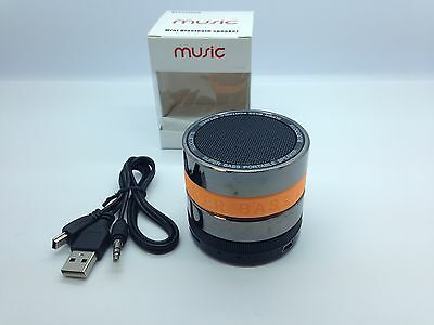 Lot Of 25 New Round Bluetooth Speaker Portable Stereo Wireless Universal Orange