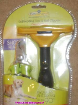 AUTHENTIC FURMINATOR Professional deShedding Tool & Nail Clip SHORT HAIR - LARGE