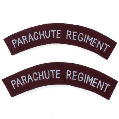 British Army PARACHUTE REGIMENT Paratrooper Shoulder Title Flashes - WW2 Repro