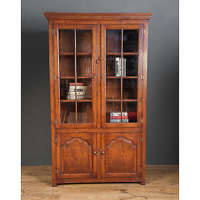 032604 Oak Period Style Display Cabinet Bookcase