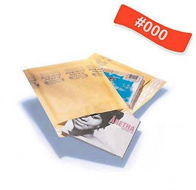 500 #000 4x8 Kraft Bubble Padded Envelopes 4 x 8 Mailers Bags -Overstock Items