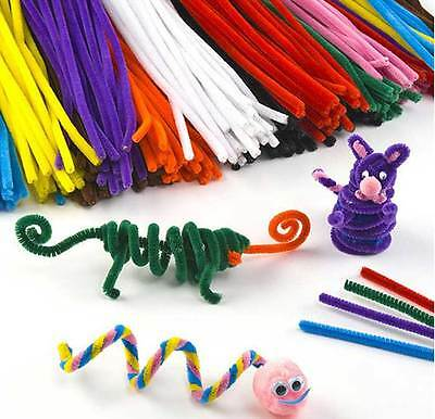 100 x Pipe Cleaners Multicolore Cure-Pipe en Velours Jouet DIY Tuyau Nettoyeur