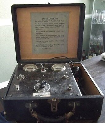 Vintage Medical Stimulator Woodbury's Portable Wall Plate Electrotherapy RARE