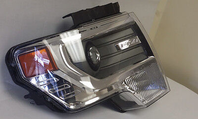 2013 FORD F 150 HEADLIGHT HID ASSEMBLY OEM USED  RIGHT SIDE CHROME DAMAGED