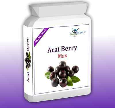 90 x Acai Berry Extreme Max 2500mg, Fat Burner, Weight loss Diet Slimming Pills