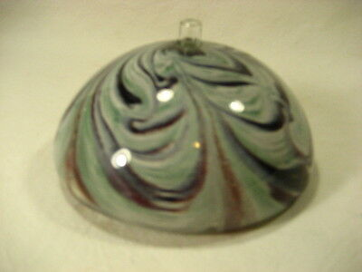 Hand blown multi colored glass  Oil Lamp signed K Wisil ?  99