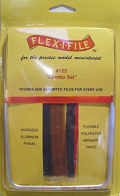 Albion Alloys 123 - Flex-i-File #123 Tool + Combo Assortment Grit Tape Pack