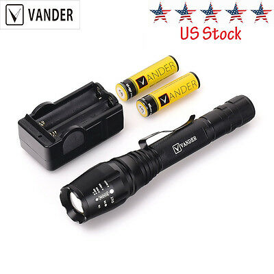 UltraFire 2000 Lumen 5-Mode CREE XM-L T6 Zoomable Focus LED Flashlight Torch