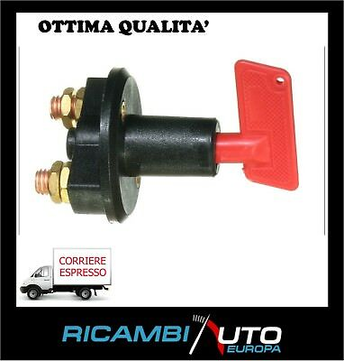 Interruttore Staccabatteria 6V 12V 24V 300A 100A Rally Tuning