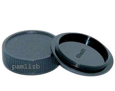 M42 Screw Thread  Camera Body & Rear lens cap