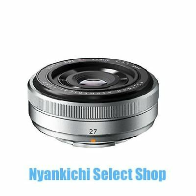 Fujifilm Fujinon XF 27mm F2.8 EBC Wide Angle Lens for X-PRO 1 X-E1 Silver Japan