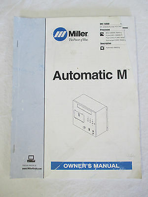 MIller OWNER'S MANUAL Automatic M OM-1595B dated April 1997