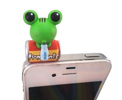Green Froggy Frog Drinking Coke Frogcoke Phone Dust Earphone Jack Plug 3.5mm New