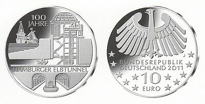 Commemorative Coins 2011: Commemorative Coin 100 Years Hamburger Elbe Tunnel