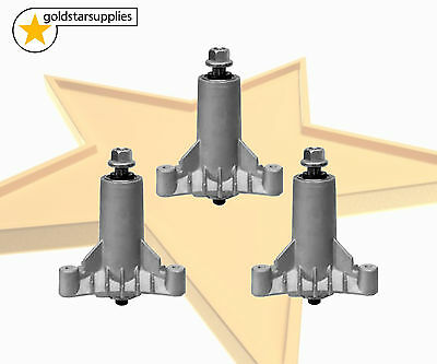 3 x SPINDLE ASSEMBLIES (3 bolt) suits HUSQVARNA/McCULLOCH/POULAN PRO RIDE-ONS
