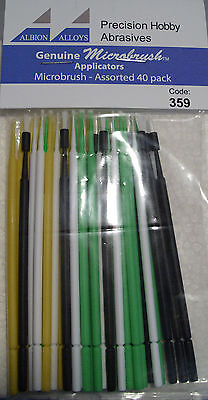 Albion Alloys 359 Pack of 40 Assortment Microbrush Applicators Sticks New