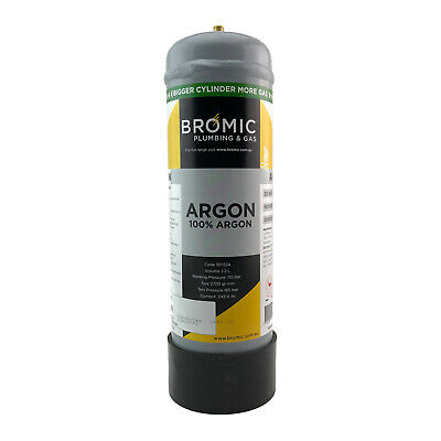 Disposable Gas Bottle - PURE ARGON - 2.2 Litre - MIG - TIG - Hampdon - 600032