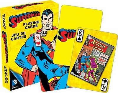 Superman Retro - Playing Card Deck - 52 Cards New - Dc Comics Man Of Steel 52295