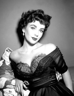 Elizabeth Taylor Film Actress Glossy Black & White Photo Picture Print A4