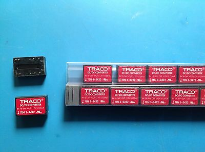 Traco Power DC/DC Converter TEN 3-2422, 18-36VDC, +-12V / +-125mA Out, 8pin