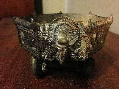 Vintage India Temple Toy Cart on Wheels Asian Antique India Hindu 19th Century