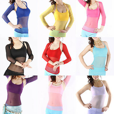 Women Belly Dance Costume Sexy Dancewear Dancing Top One Size 8 Colors
