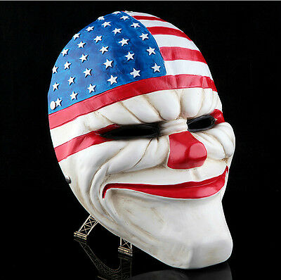 PAYDAY 2  Heist  Dallas Mask Joker Costume Props Collection Cosplay Horror Mask
