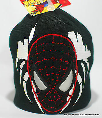 NEW KIDS SPIDERMAN BEANIE HAT - Boys/Girls ONE SIZE Red/Black Acrylic With Tags