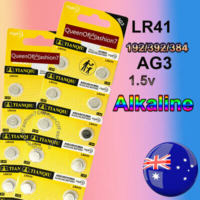 20 x LR41 (192/AG3/392) Battery 1.5V Alkaline Button Cell Batteries Sydney Stock