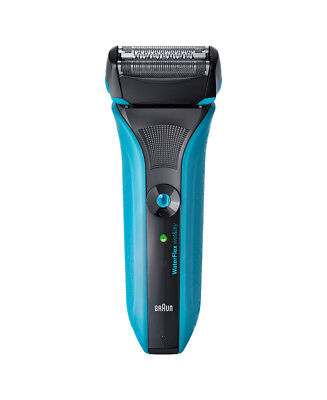New Braun Water Flex Wet/Dry Electric Shaver Blue With Swivel Head Blue Wf2