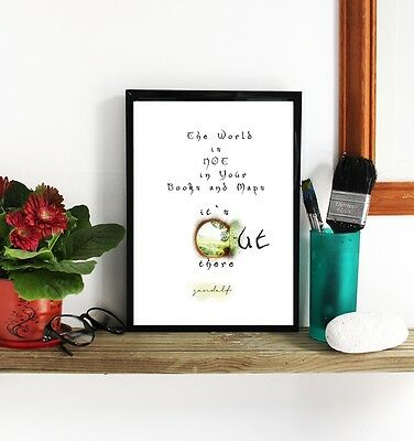 LOTR Gandalf Quote Hand Made Special Wall Art Poster Unique Prints Vintage Retro