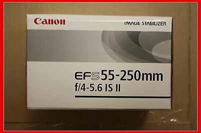 New Canon EF-S 55-250mm F/4.0-5.6 II IS Telephoto Zoom Lens Image Stabilizer
