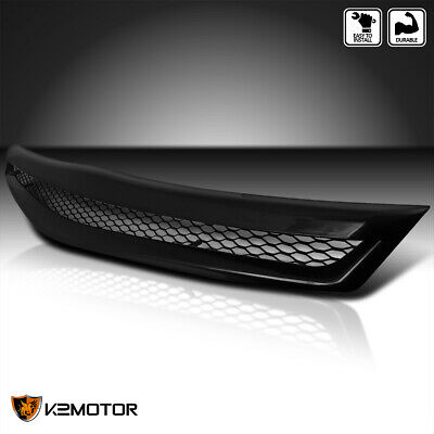 For 2006-2008 Honda Civic Coupe 2Dr Front Black ABS Hood Grill T-R Grille