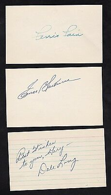 Dale Long d.1991 signed index card certified auto autograph Cubs Pirates