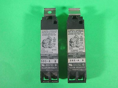 Allen-Bradley Auxiliary Contact -- 595-A Ser. B -- (Lot of 2) Used