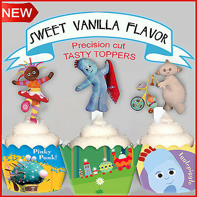 15 In the Night Garden EDIBLE Vanilla Wafer XL Cupcake Toppers PRE-CUT cup cake