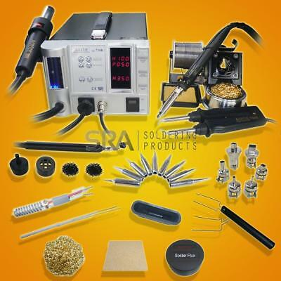 Aoyue 738H 5 in 1 Digital Soldering Iron & Hot Air Station Complete Kit- 220 Vol
