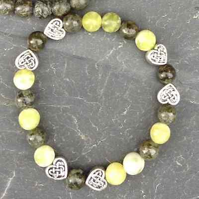 Connemara Marble Bracelet Irish Celtic Heart, Jewellery,Made in Ireland, jewelry